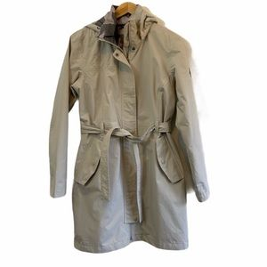 The North Face Khaki Belted Rain Trench Coat